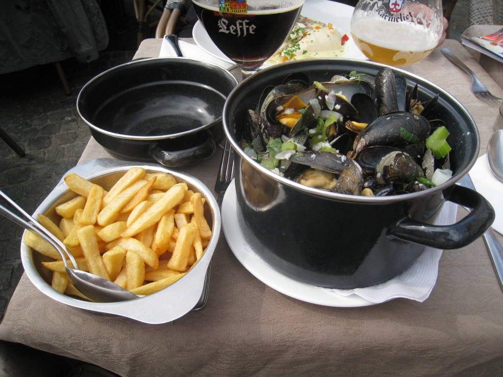 Mussels and frites and beer