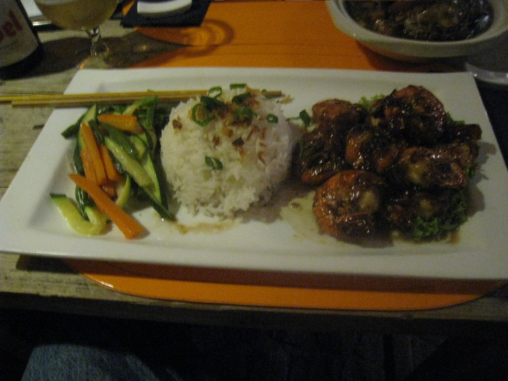 Shrimp with black bean sauce