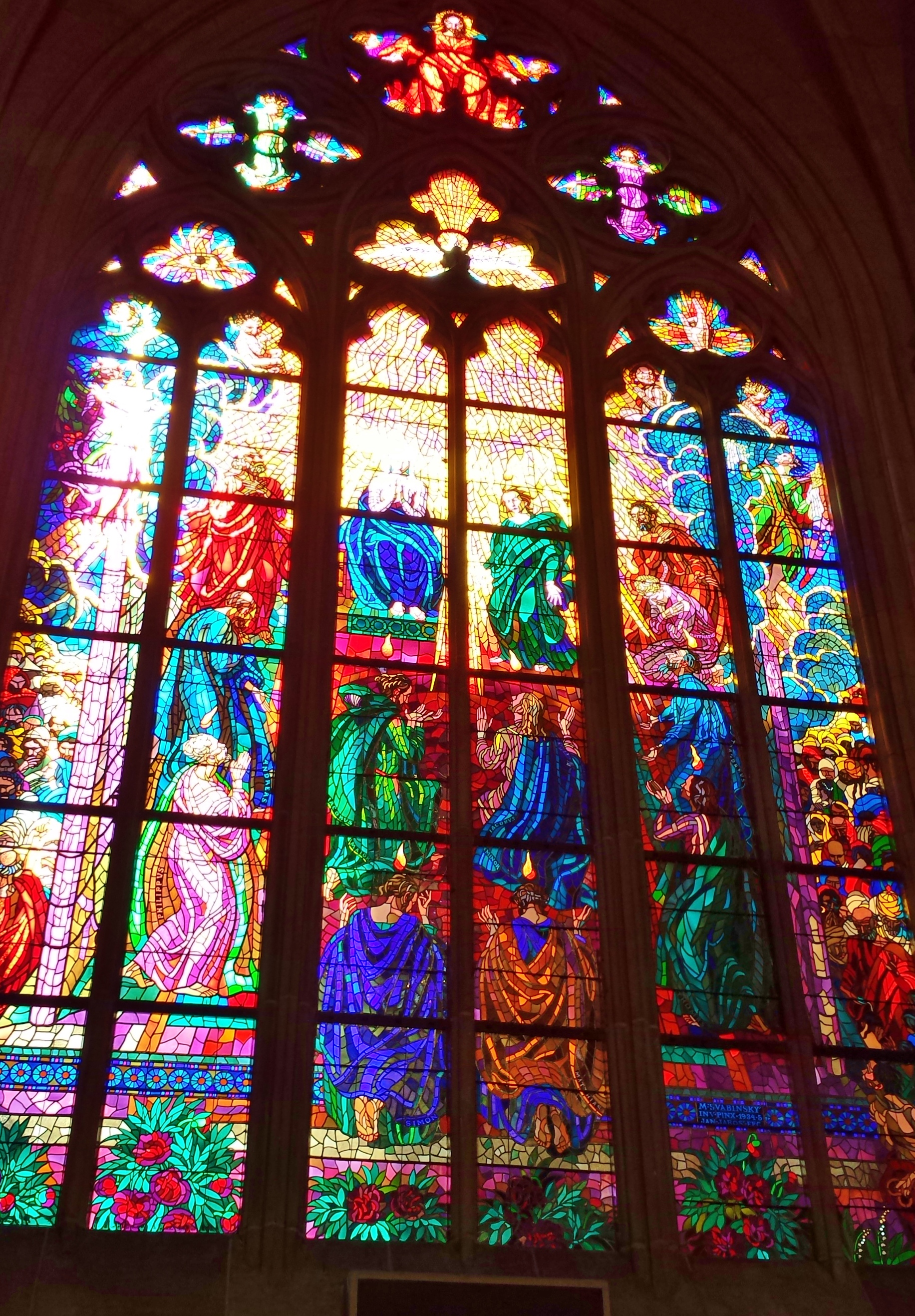 St vitus cathedral modern stained glass window the for Glass windows